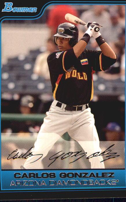 2006 Bowman Chrome Draft Future's Game Prospects #43 Carlos Gonzalez