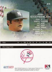 2006 TRISTAR Prospects Plus #25 Joba Chamberlain PD back image