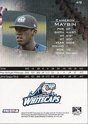 2006 TRISTAR Prospects Plus #49 Cameron Maybin PD back image