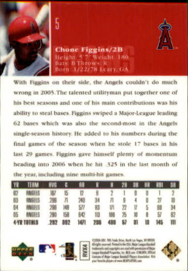 2006 Upper Deck Special F/X Green #5 Chone Figgins back image