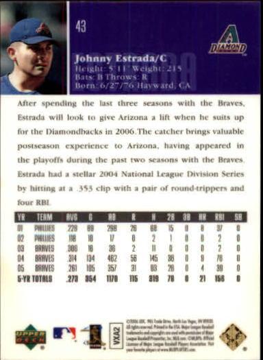 2006 Upper Deck Special F/X Green #43 Johnny Estrada back image
