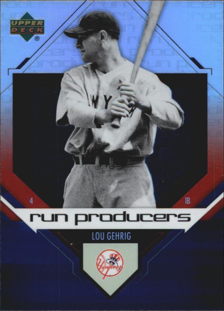 2006 Upper Deck Special F/X Run Producers #5 Lou Gehrig