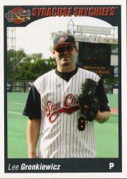 2006 Syracuse Skychiefs Choice #12 Lee Gronkiewicz