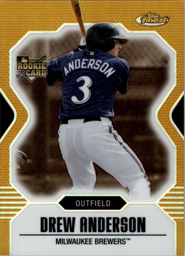 2007 Finest Refractors Gold #140 Drew Anderson