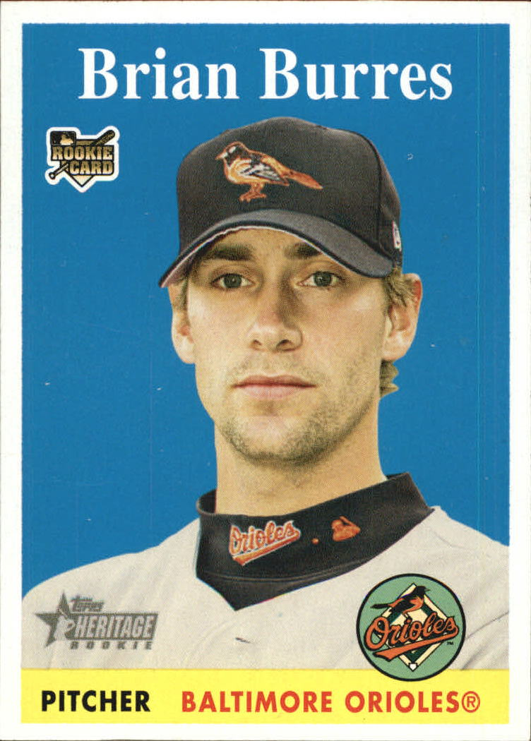 2007 Topps Heritage #113 Brian Burres SP (RC)