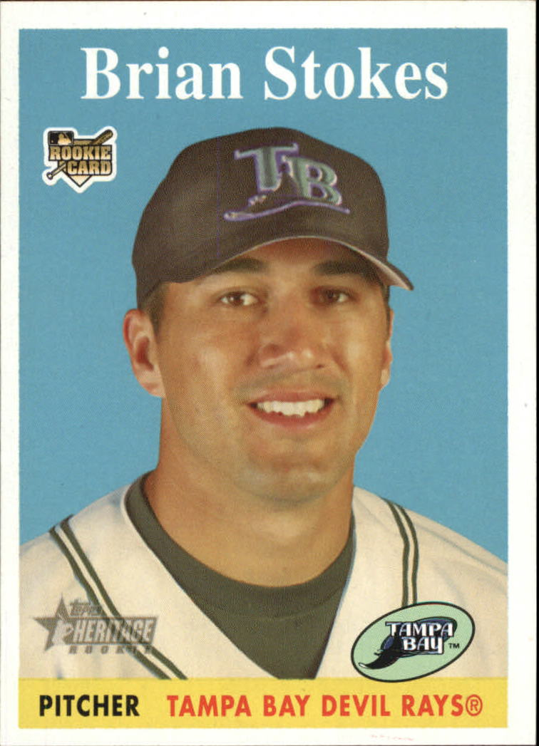 2007 Topps Heritage #167 Brian Stokes SP (RC)
