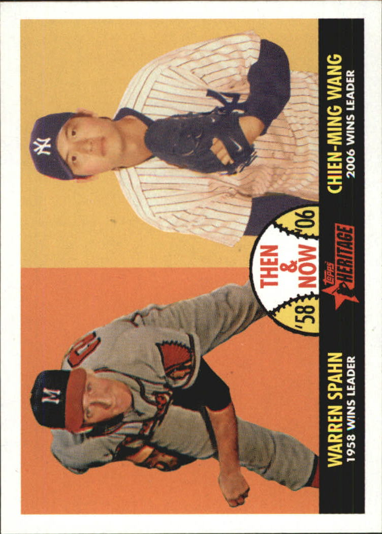 2007 Topps Heritage Then and Now #TN10 Warren Spahn/Chien-Ming Wang