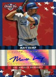 2007 Topps Opening Day Autographs #MK Matt Kemp