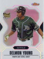 2007 Finest Rookie Photo Variation Refractors #150 Delmon Young Running