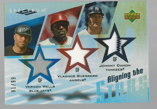 2007 Upper Deck Spectrum Aligning the Stars #WGD Vernon Wells/Johnny Damon/Vladimir Guerrero