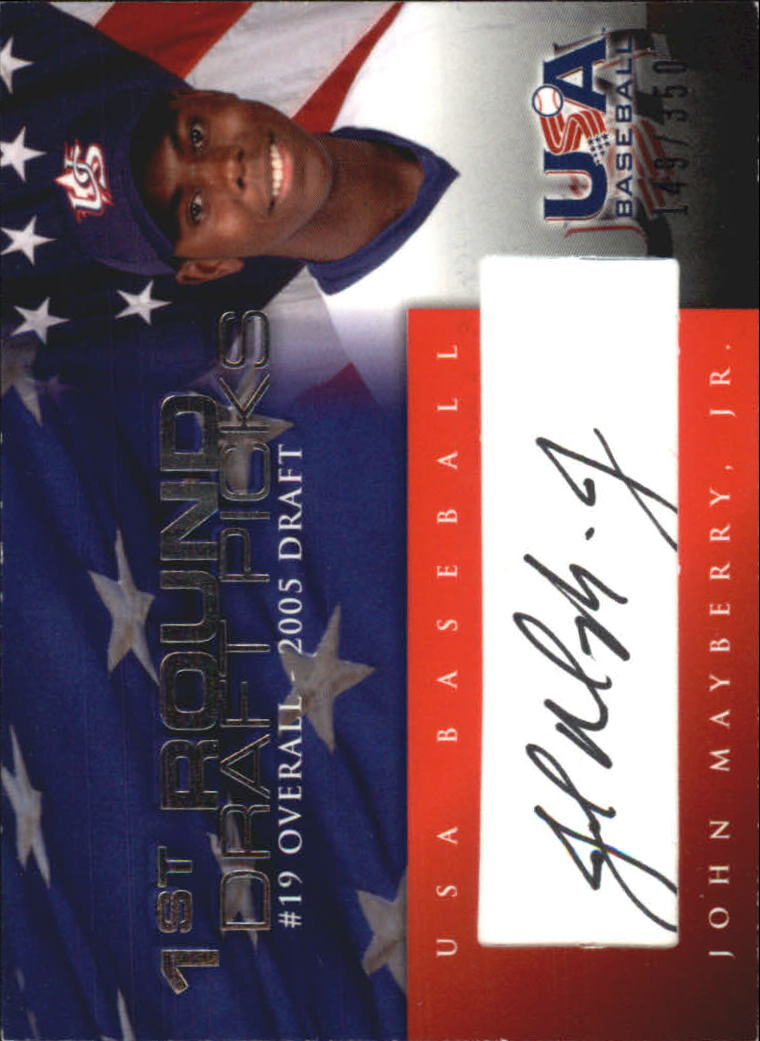 2006-07 USA Baseball 1st Round Draft Pick Signatures Black #8 John Mayberry Jr./200 *