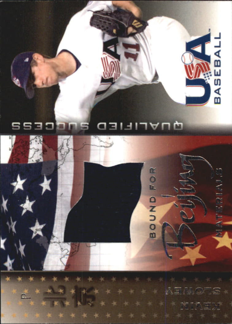 2006-07 USA Baseball Bound for Beijing Materials #1 Kevin  Slowey Jsy