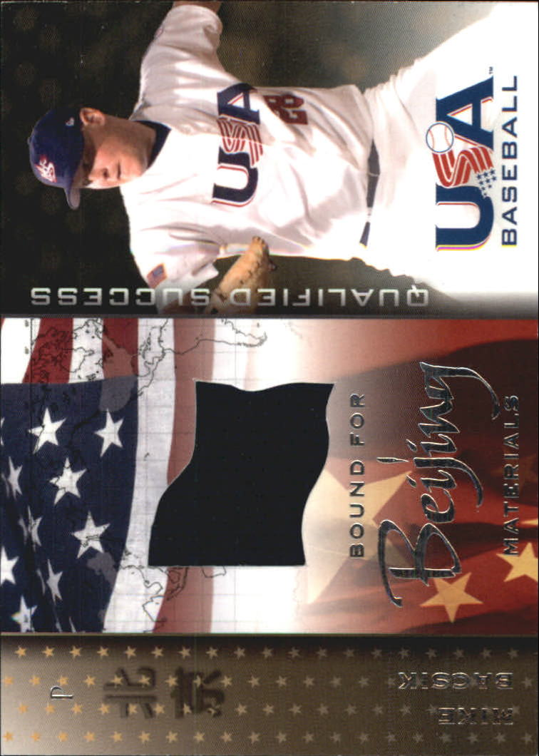 2006-07 USA Baseball Bound for Beijing Materials #3 Mike Bacsik Jsy