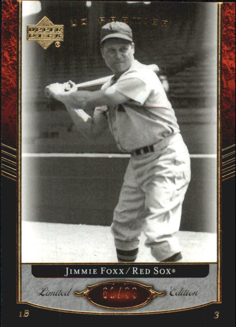 2007 Upper Deck Premier #6 Jimmie Foxx