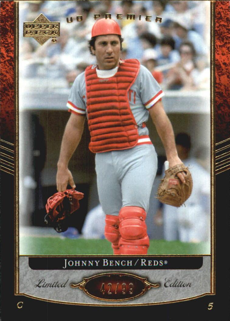 2007 Upper Deck Premier #23 Johnny Bench