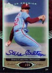 2007 Upper Deck Premier Autograph Parallel #55 Steve Carlton