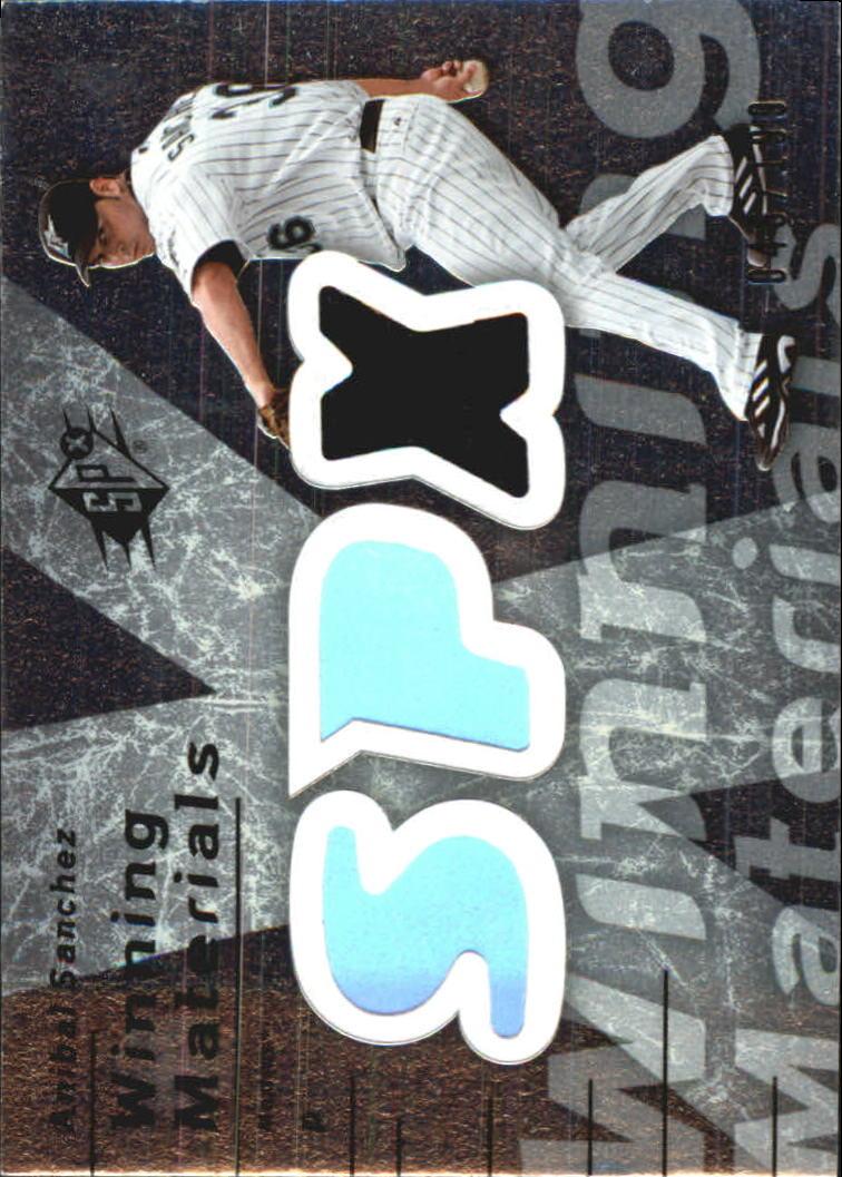 2007 SPx Winning Materials 199 Silver #AS Anibal Sanchez/199