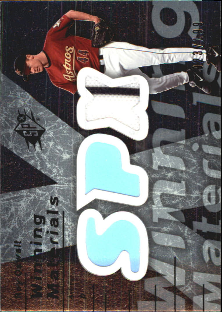 2007 SPx Winning Materials 199 Silver #RO Roy Oswalt/199