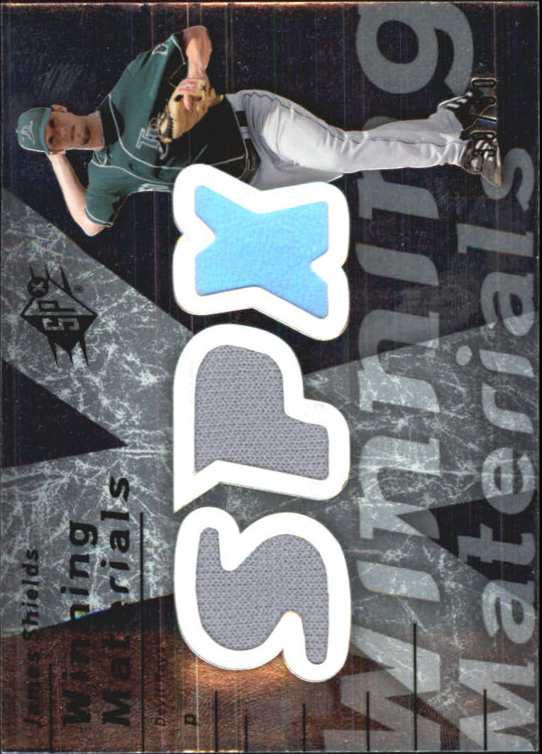 2007 SPx Winning Materials Dual Silver #SH James Shields/50