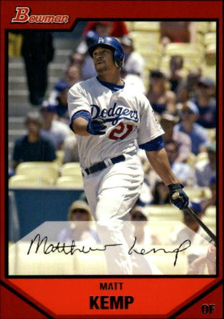 2007 Bowman #160 Matt Kemp