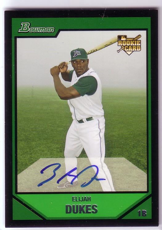 2007 Bowman #235 Elijah Dukes AU RC