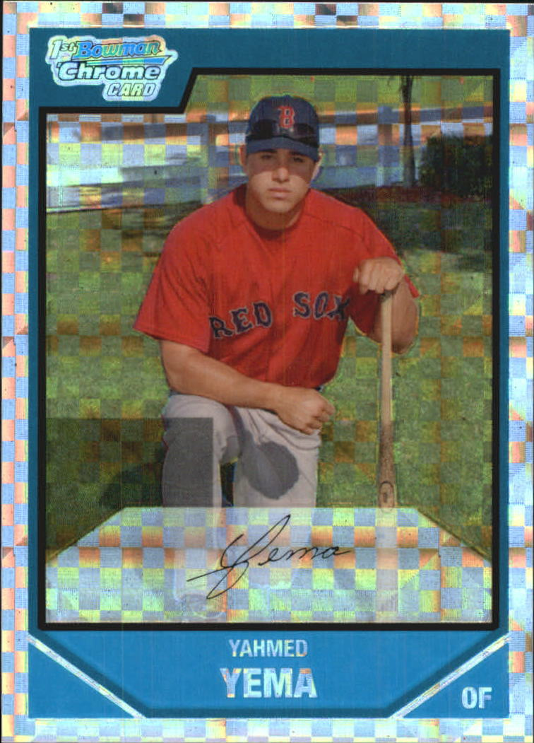 2007 Bowman Chrome Prospects X-Fractors #BC16 Yahmed Yema