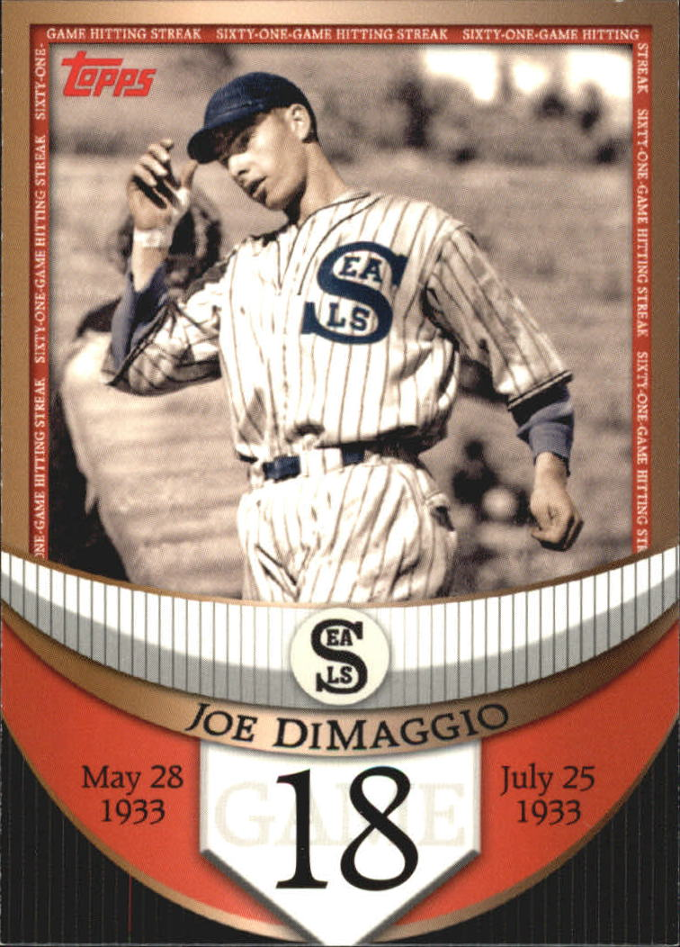 2007 Topps DiMaggio Streak Before the Streak #JDSF18 Joe DiMaggio