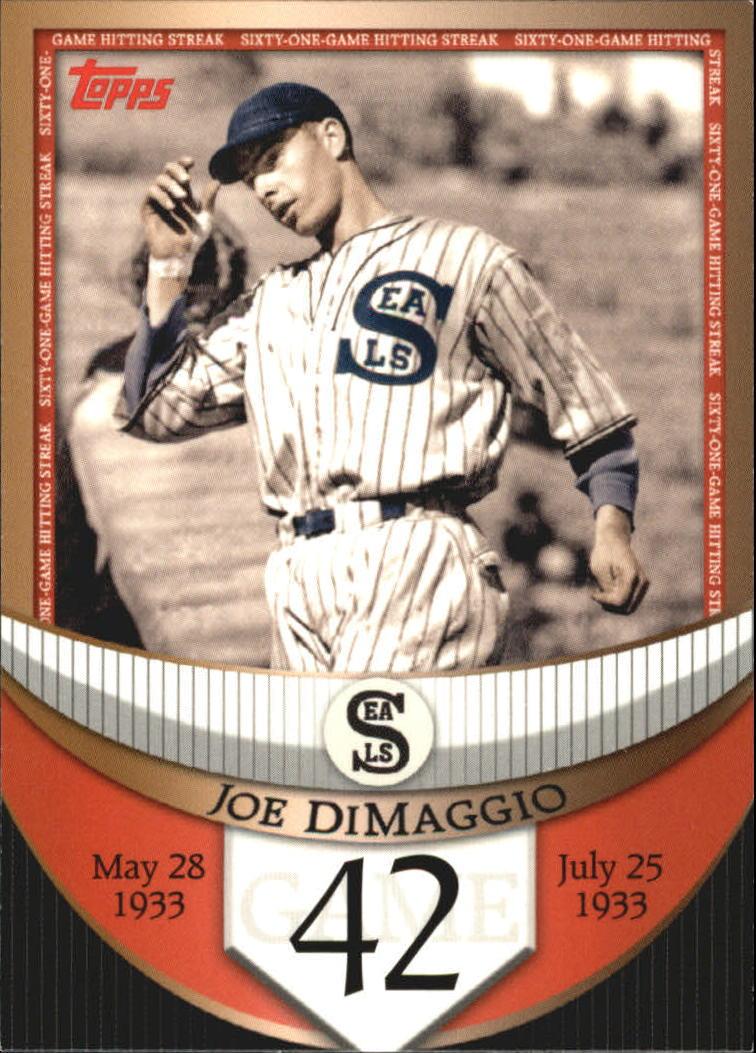 2007 Topps DiMaggio Streak Before the Streak #JDSF42 Joe DiMaggio