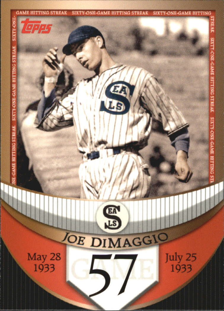 2007 Topps DiMaggio Streak Before the Streak #JDSF57 Joe DiMaggio