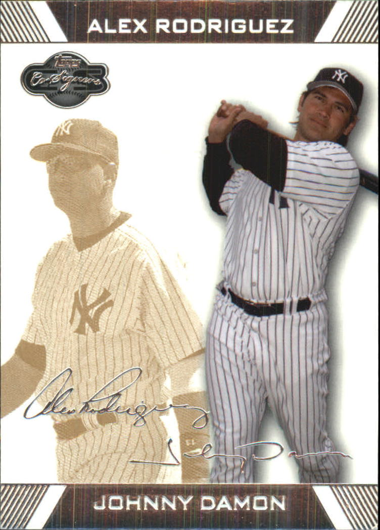 2007 Topps Co-Signers Gold #93B Johnny Damon/Alex Rodriguez
