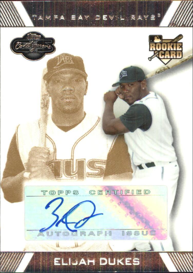 2007 Topps Co-Signers Gold #119 Elijah Dukes AU