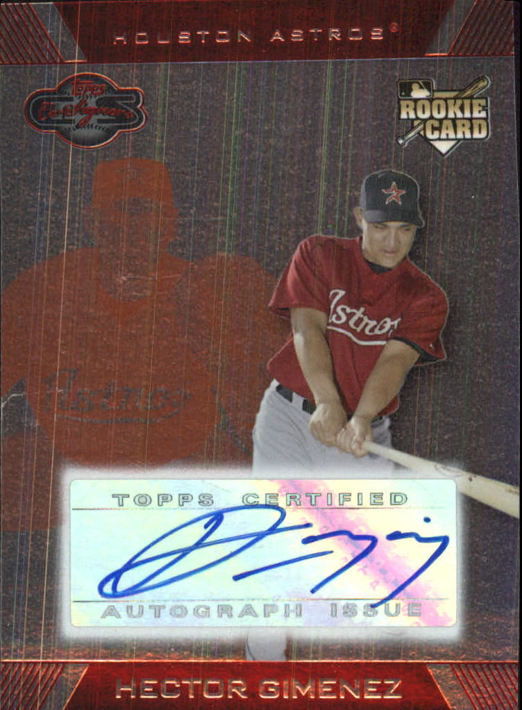 2007 Topps Co-Signers Silver Red #106 Hector Gimenez AU