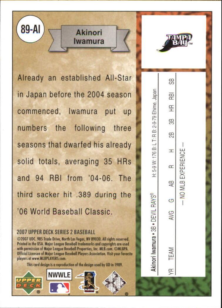 2007 Upper Deck 1989 Rookie Reprints #AI Akinori Iwamura back image
