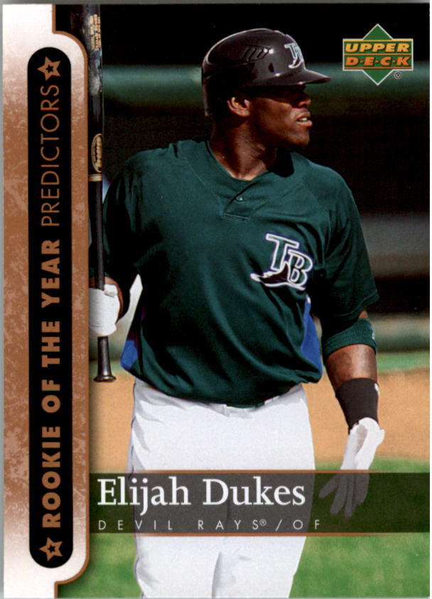 2007 Upper Deck Rookie of the Year Predictor #ROY26 Elijah Dukes