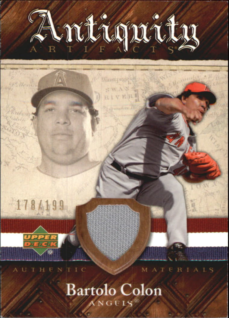 2007 Artifacts Antiquity Artifacts #BC Bartolo Colon