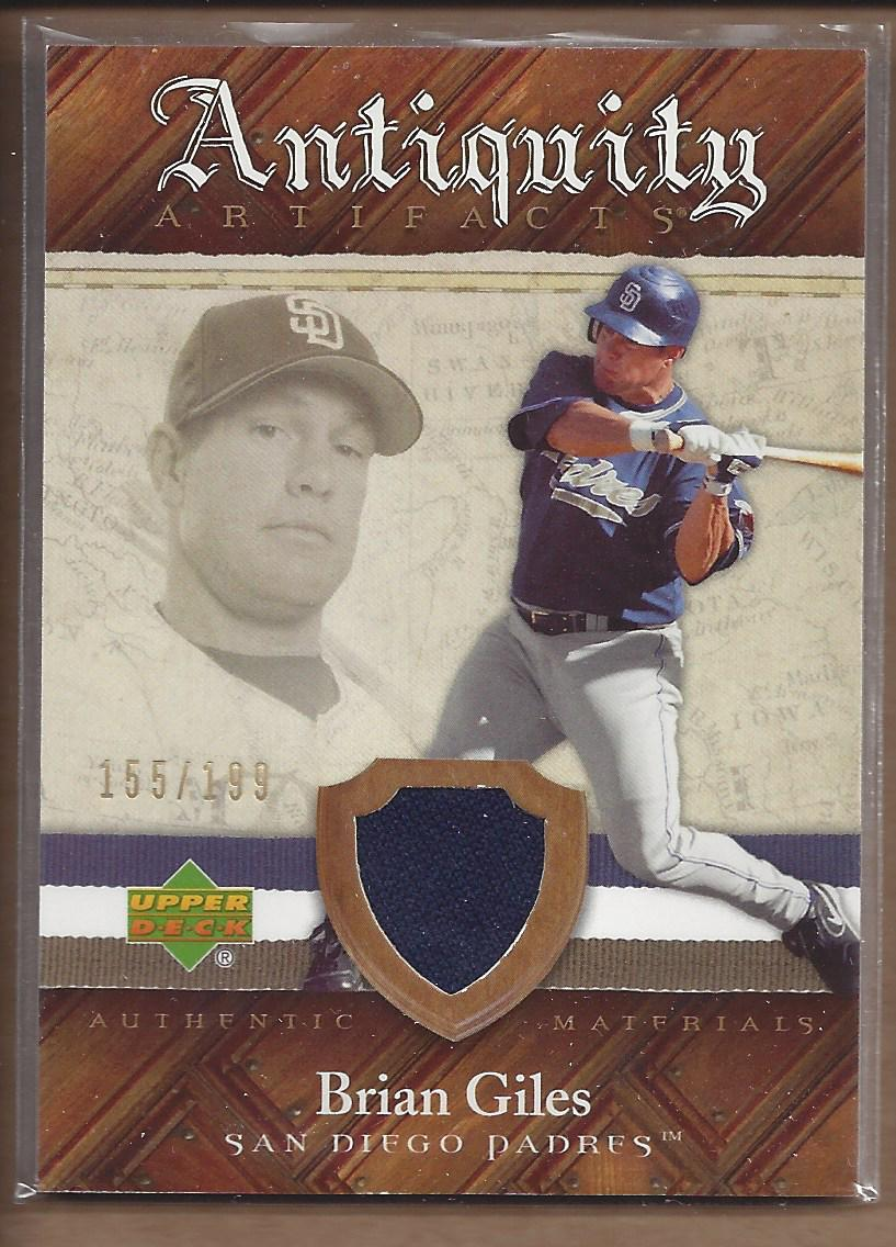 2007 Artifacts Antiquity Artifacts #BG Brian Giles