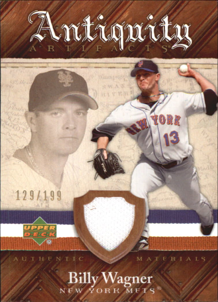 2007 Artifacts Antiquity Artifacts #BW Billy Wagner