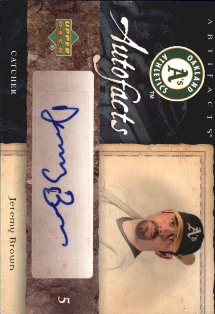 2007 Artifacts Autofacts #BR Brian Roberts