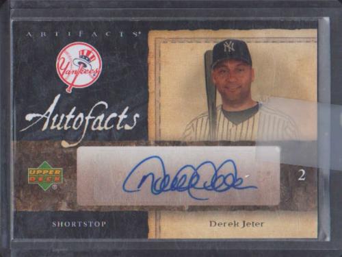 2007 Artifacts Autofacts #DJ Derek Jeter