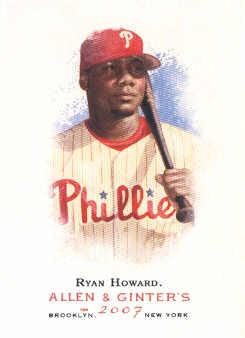 2007 Topps Allen and Ginter #1 Ryan Howard