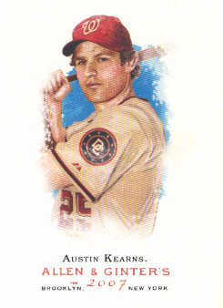 2007 Topps Allen and Ginter #3 Austin Kearns