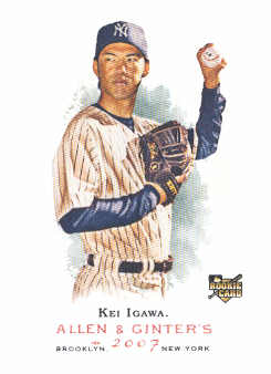 2007 Topps Allen and Ginter #14 Kei Igawa RC