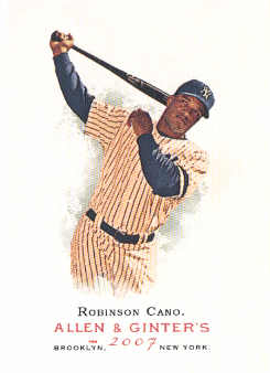2007 Topps Allen and Ginter #163 Robinson Cano