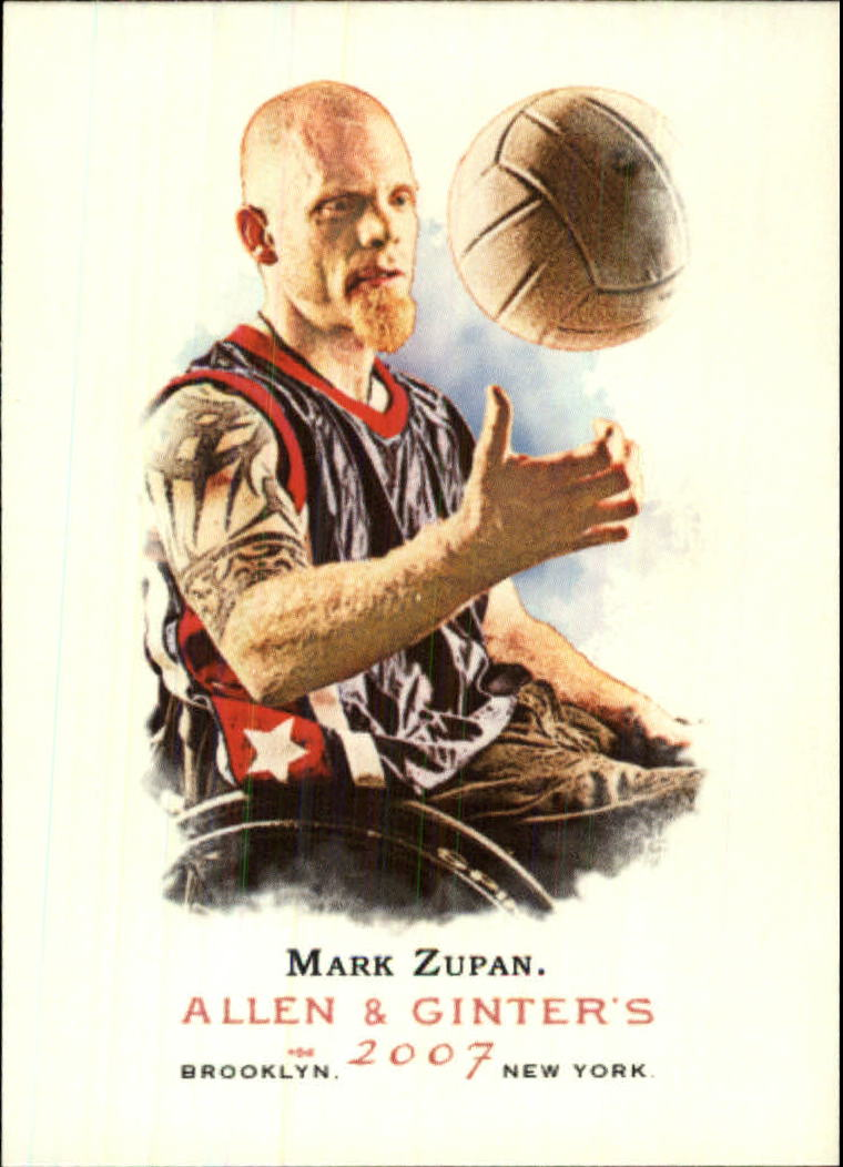 2007 Topps Allen and Ginter #308 Mark Zupan SP