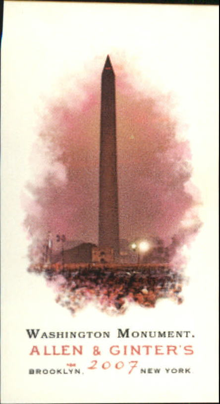 2007 Topps Allen and Ginter Mini A and G Back #268 Washington Monument