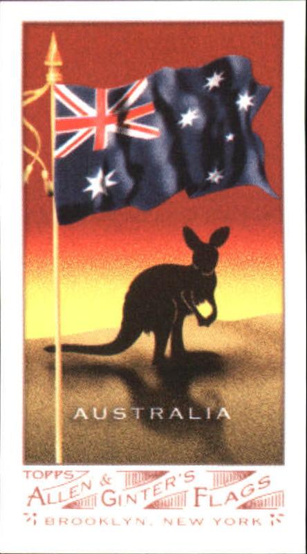 2007 Topps Allen and Ginter Mini Flags #3 Australia