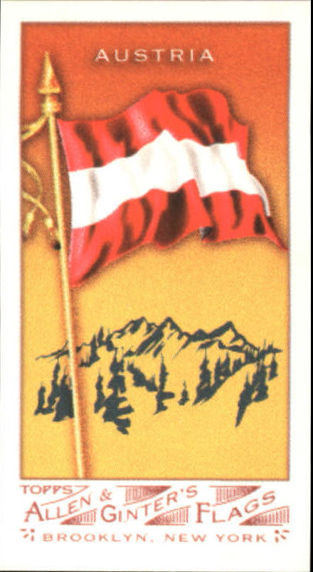 2007 Topps Allen and Ginter Mini Flags #4 Austria