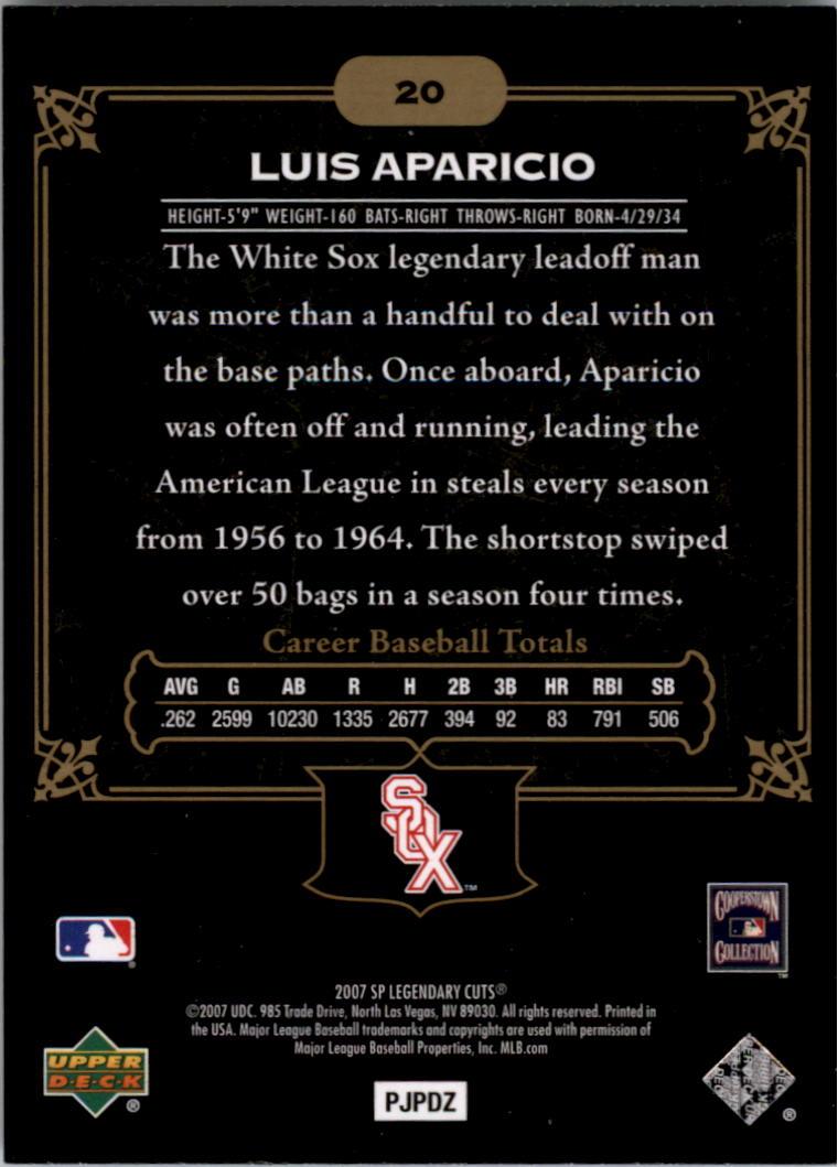 2007 SP Legendary Cuts #20 Luis Aparicio back image