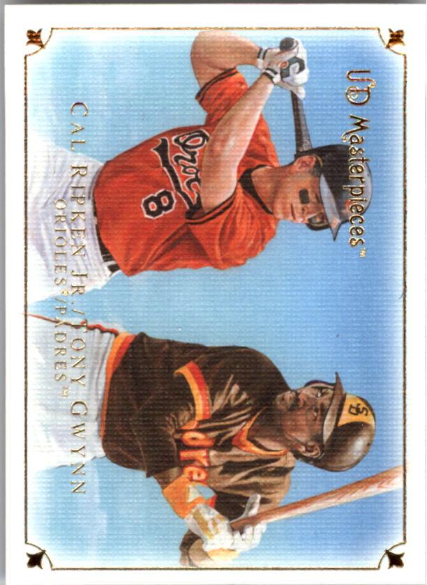 2007 UD Masterpieces #42 Tony Gwynn/Cal Ripken Jr.