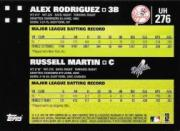 2007 Topps Update #276 Alex Rodriguez/Russell Martin back image